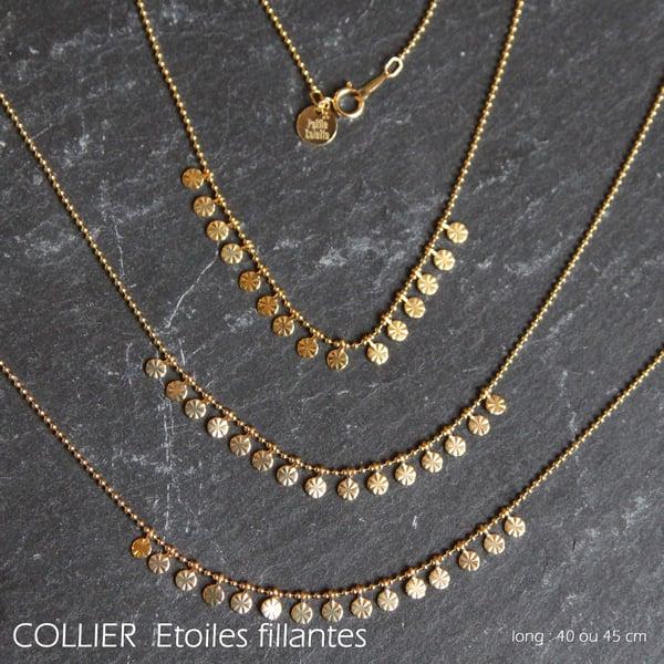 Image of COLLIER Etoiles Filantes
