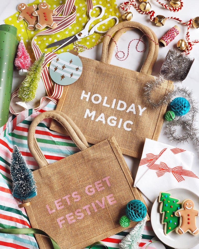 Image of Let's Get Festive Reusable Holiday Gift Bag