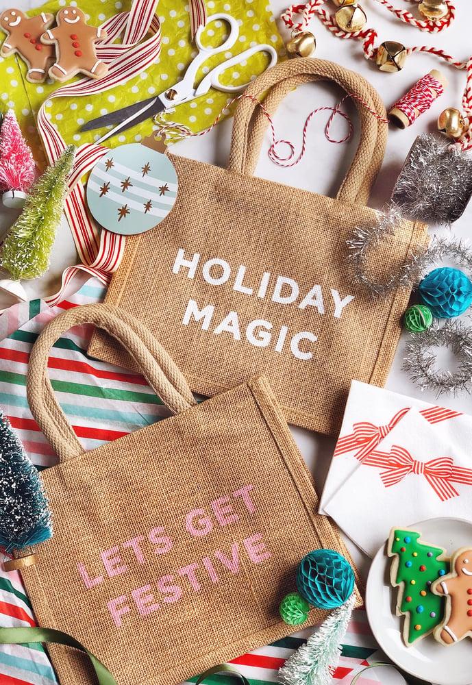 Image of Holiday Magic Reusable Holiday Gift Bag