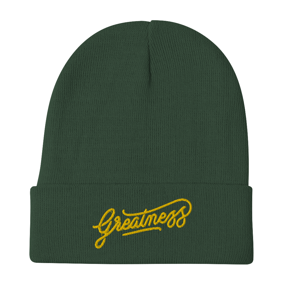 Image of GREATNESS CUFFED BEANIE