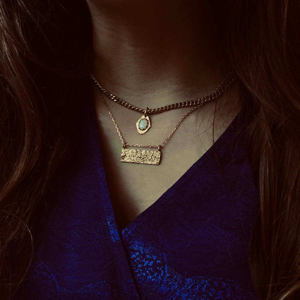 Image of Inès Necklace / 24k gold-coated silver