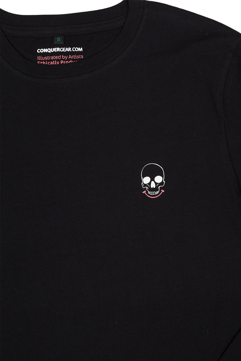 Mr Death Black Back Print Long Sleeve (Organic)