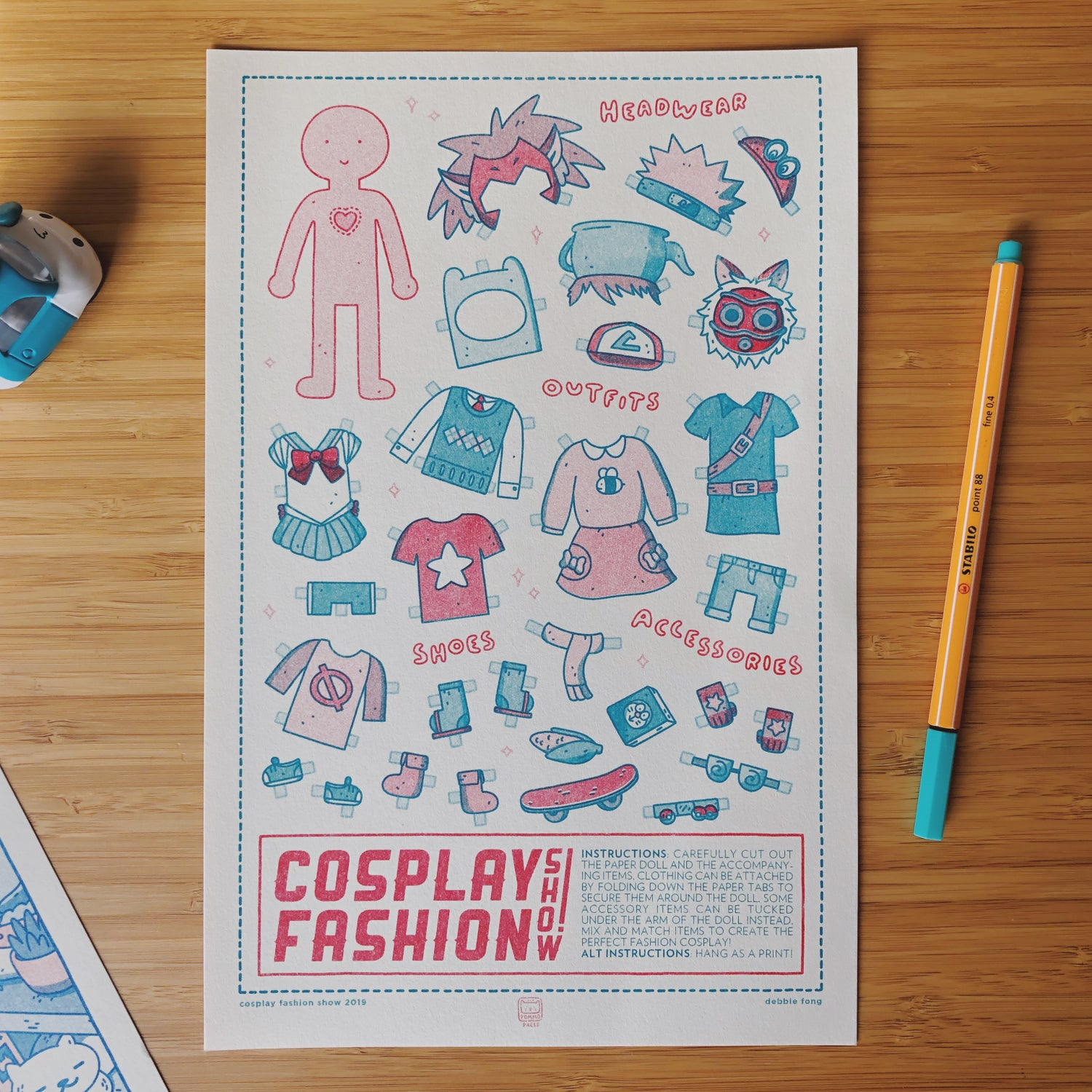 Image of COSPLAY FASHION SHOW RISO PRINT