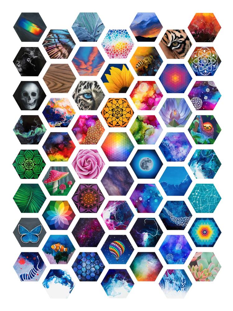 Image of Hexagon collective print