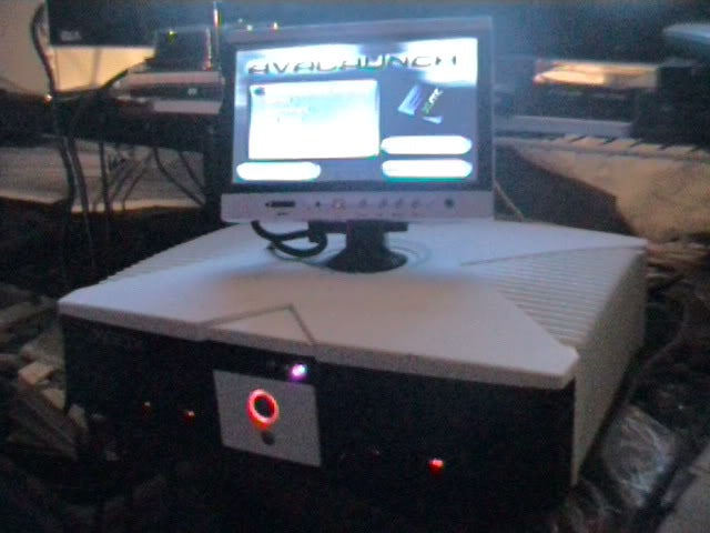 "Image of Xbox Modded With 7"" TV / Video Screen mounted on Top"