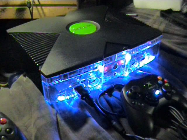 Image of Clear Faced & Lighted (Switch) Front Xbox Red Blue Green Orange or Purple....