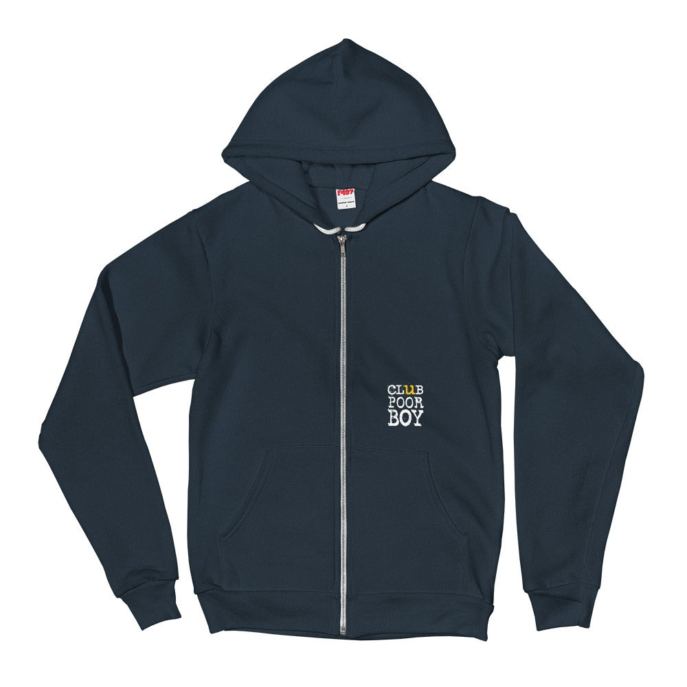 Image of CLUB POOR BOY ZIPPIE DOO HOODIE