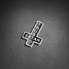 Trust Satan Inverted Cross Sticker