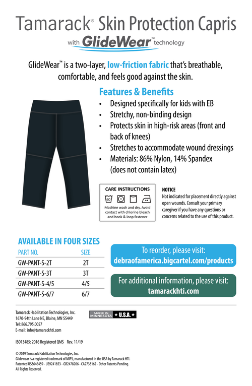 Image of Tamarack Skin Protection Capris with GlideWear TM technology