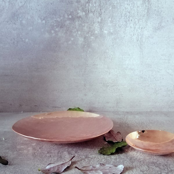 Image of Hand hammered copper dish