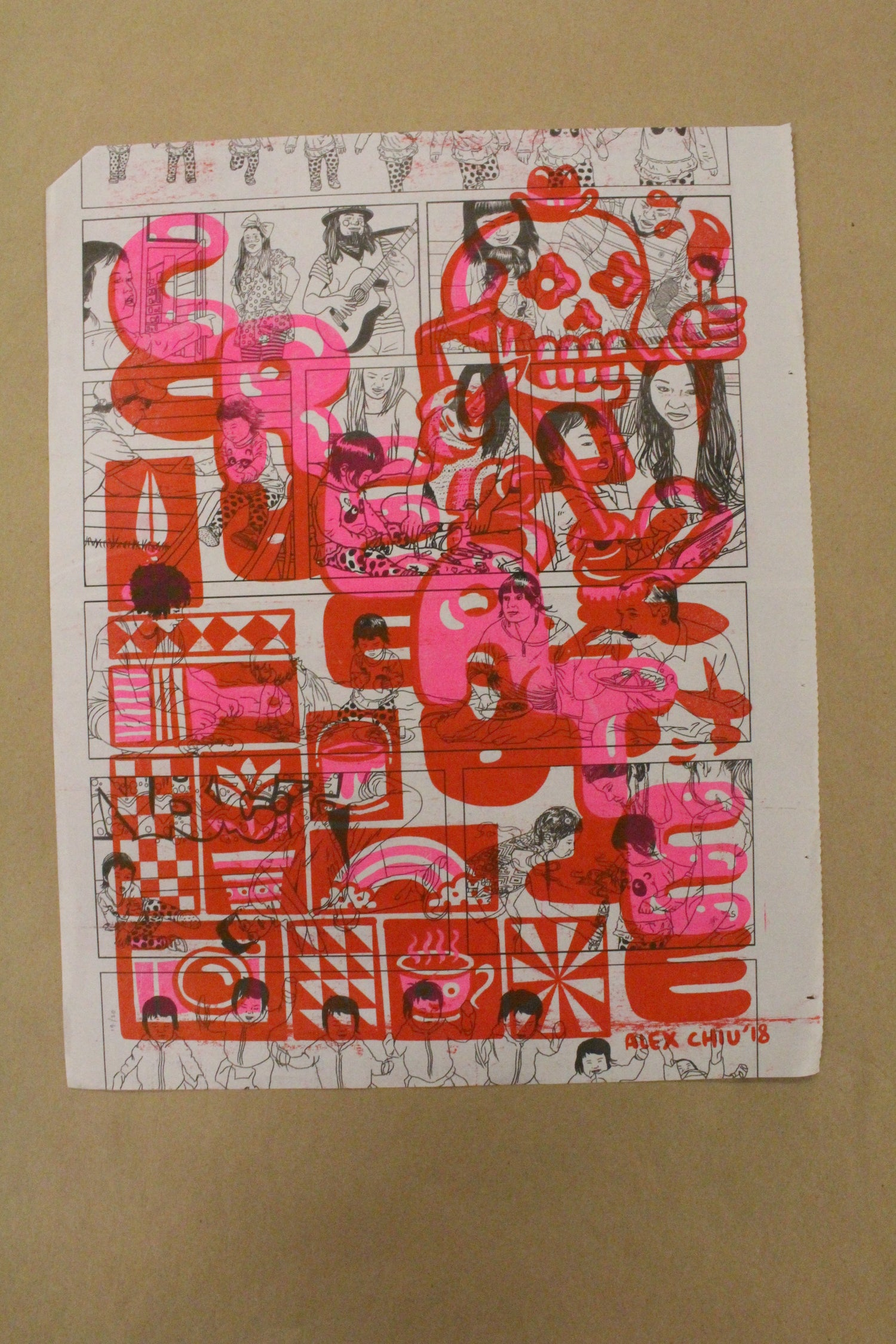 Image of One-of-a-Kind Alex Chiu Risograph Print