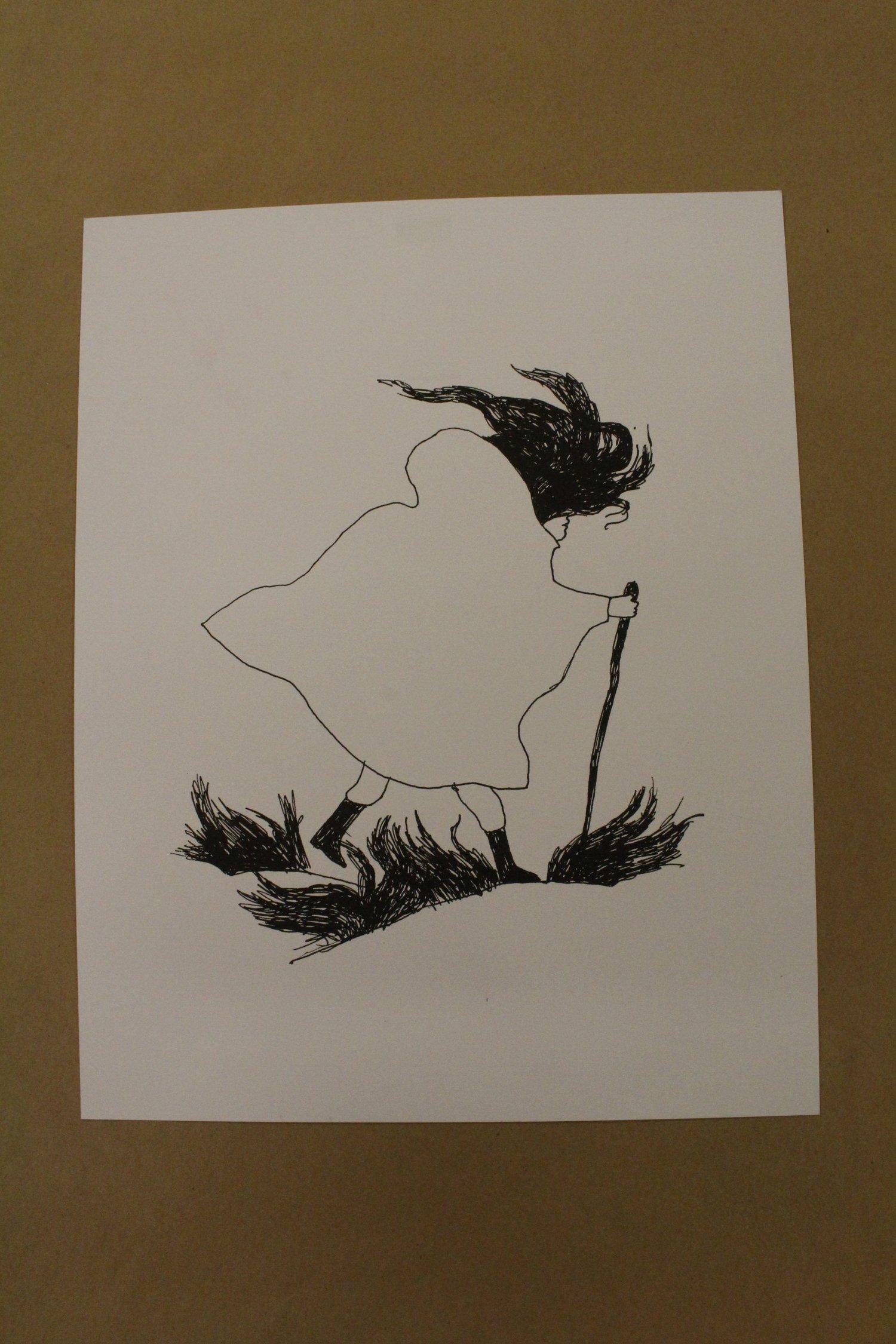 Image of Carson Ellis Risograph Illustration