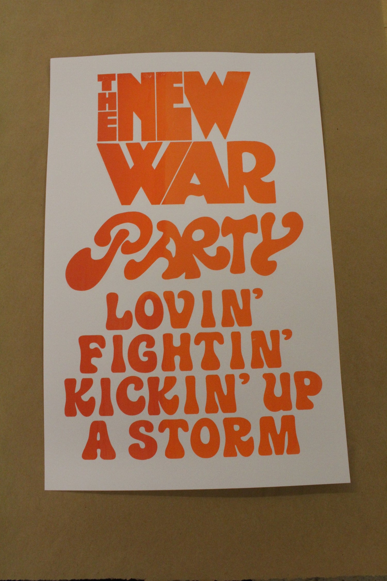 "Image of Last Heavy ""War Party"" Screen Print"