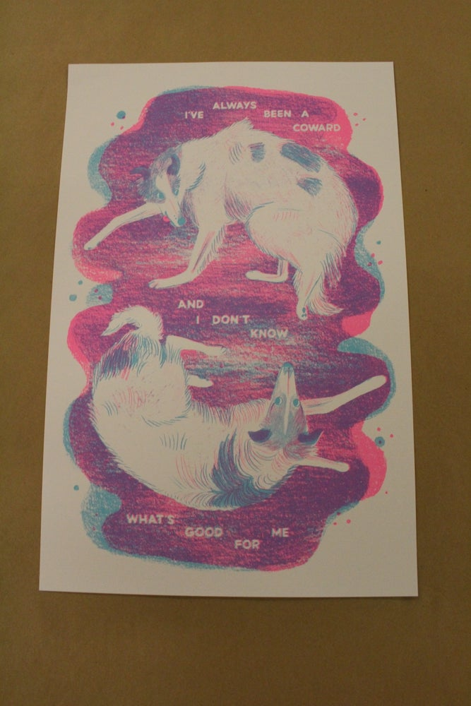 "Image of Michelle Leigh ""Hounds of Love"" Risograph Print"
