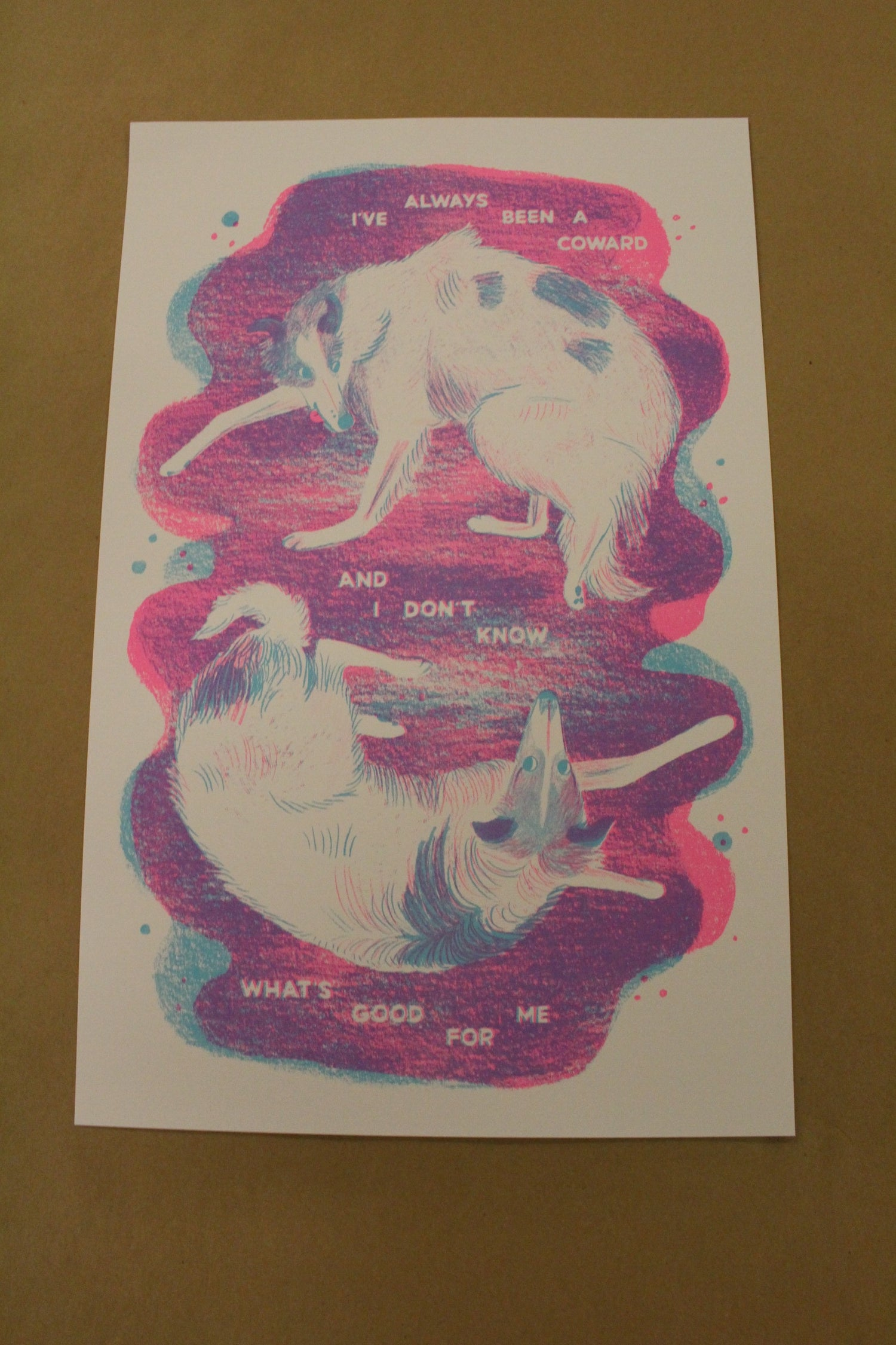 """Image of Michelle Leigh """"Hounds of Love"""" Risograph Print"""