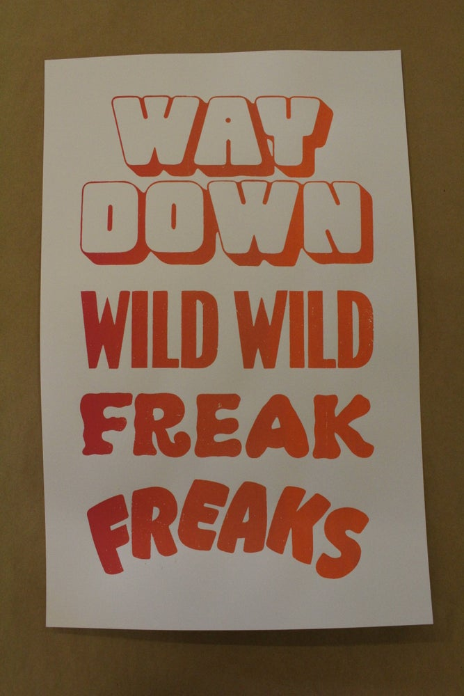 "Image of Last Heavy ""Freaks"" Screen print"