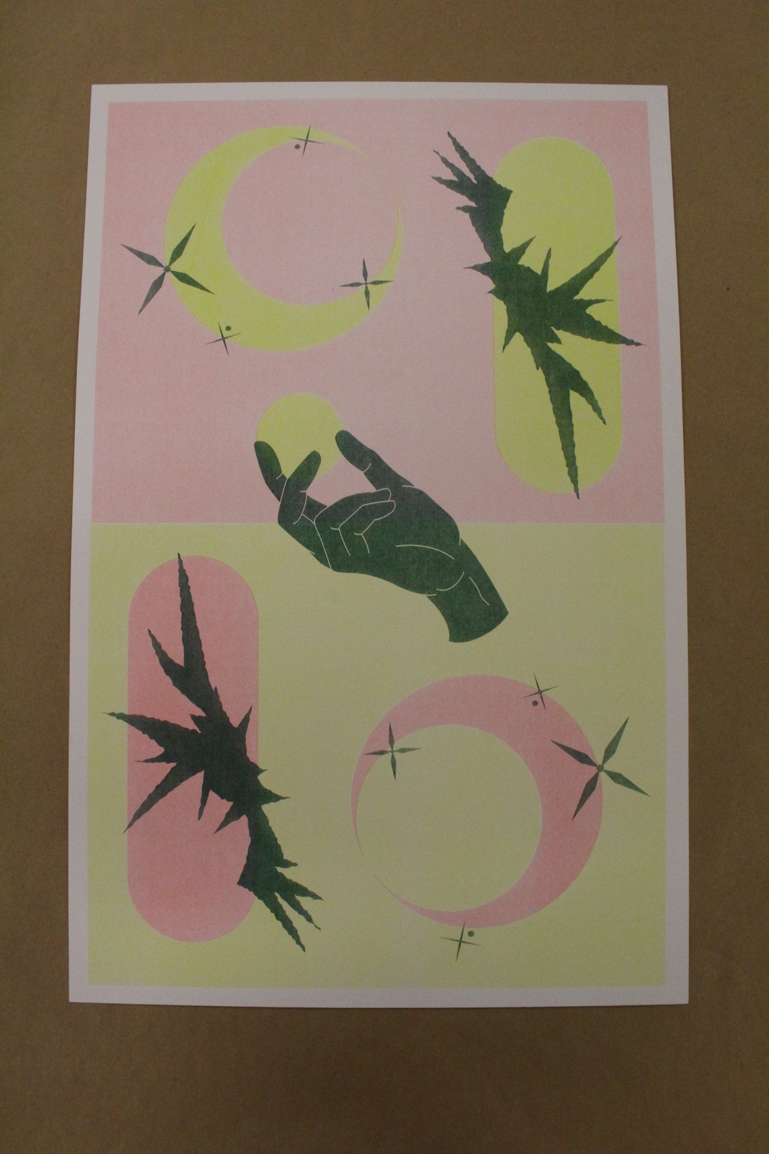 "Image of Nagini Reddy ""Hand"" Risograph Print"
