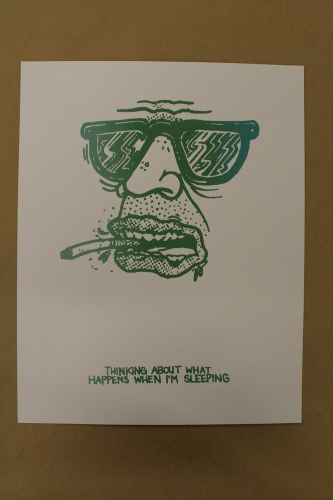 "Image of Last Heavy ""Thinking/Sleeping"" Screen Print"