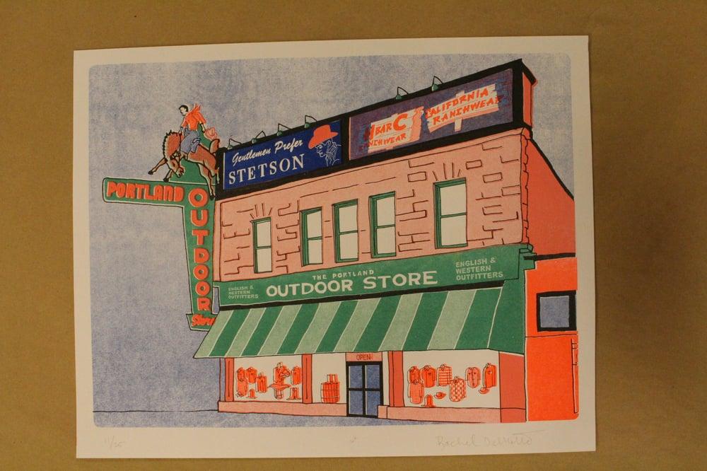 "Image of Rachel Delmotte ""Portland Outdoor"" Risograph Print"
