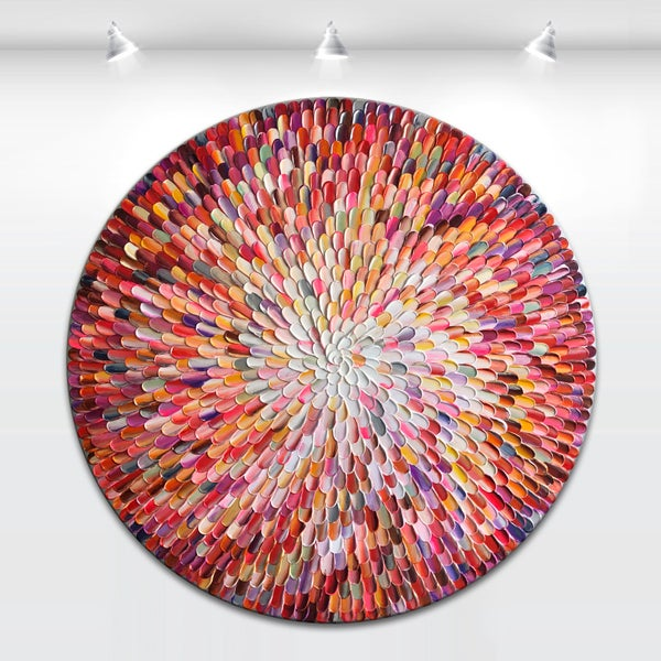 Image of Orbis bloom - round painting MADE2ORDER
