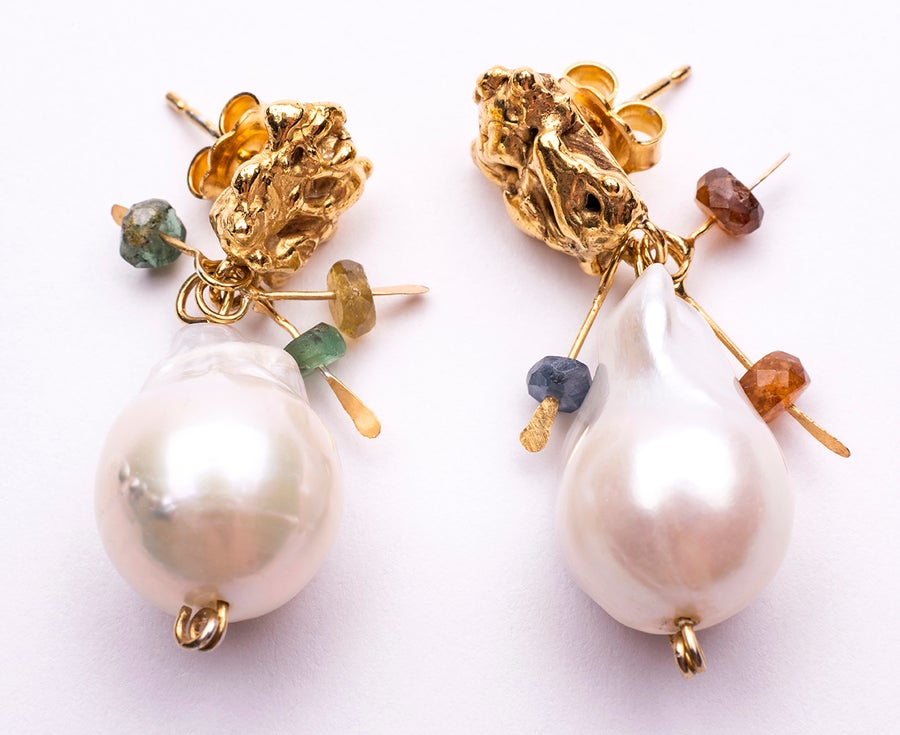 Image of Plethora earrings-  Baroque Pearls