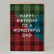 Image of Happy Birthday Tartan Relative - multiple to choose from (Card)