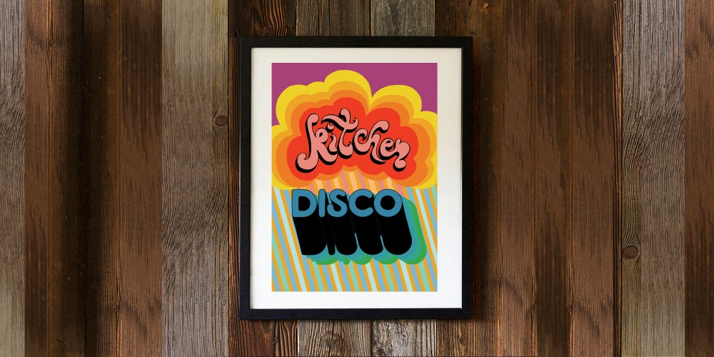 Image of KITCHEN DISCO - signed, digital print