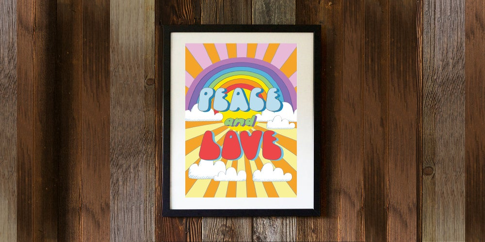 Image of PEACE AND LOVE - signed, digital print