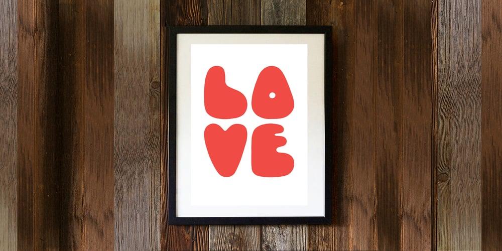 Image of LOVE - signed, digital print