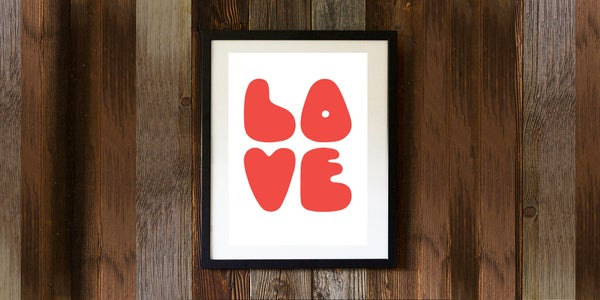 Image of LOVE - signed, digital print