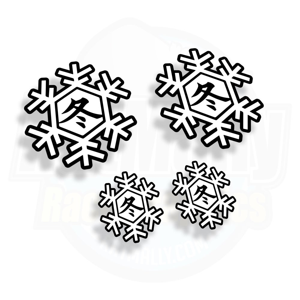 Image of World Superbike Winter Test Snow Flake Stickers
