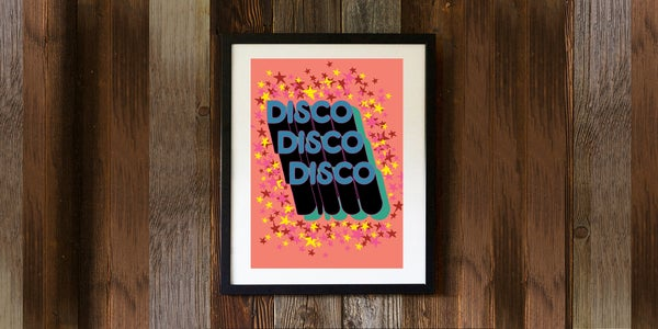 Image of DISCO DISCO DISCO - signed, digital print