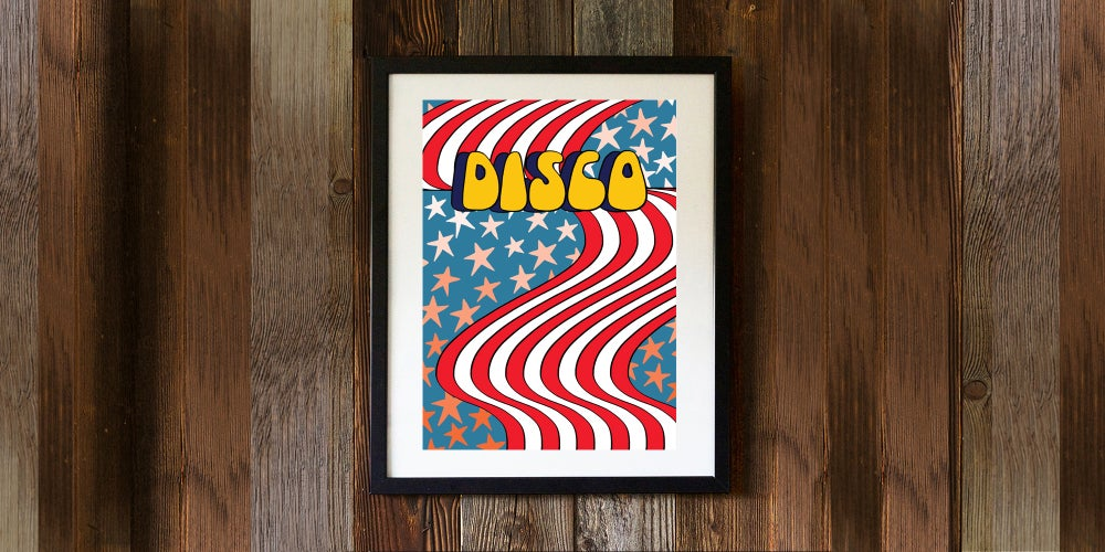 Image of DISCO FLAG - signed, digital print