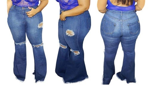 """Image of """"Rock The Bellz"""" Plus Bell Jeans"""
