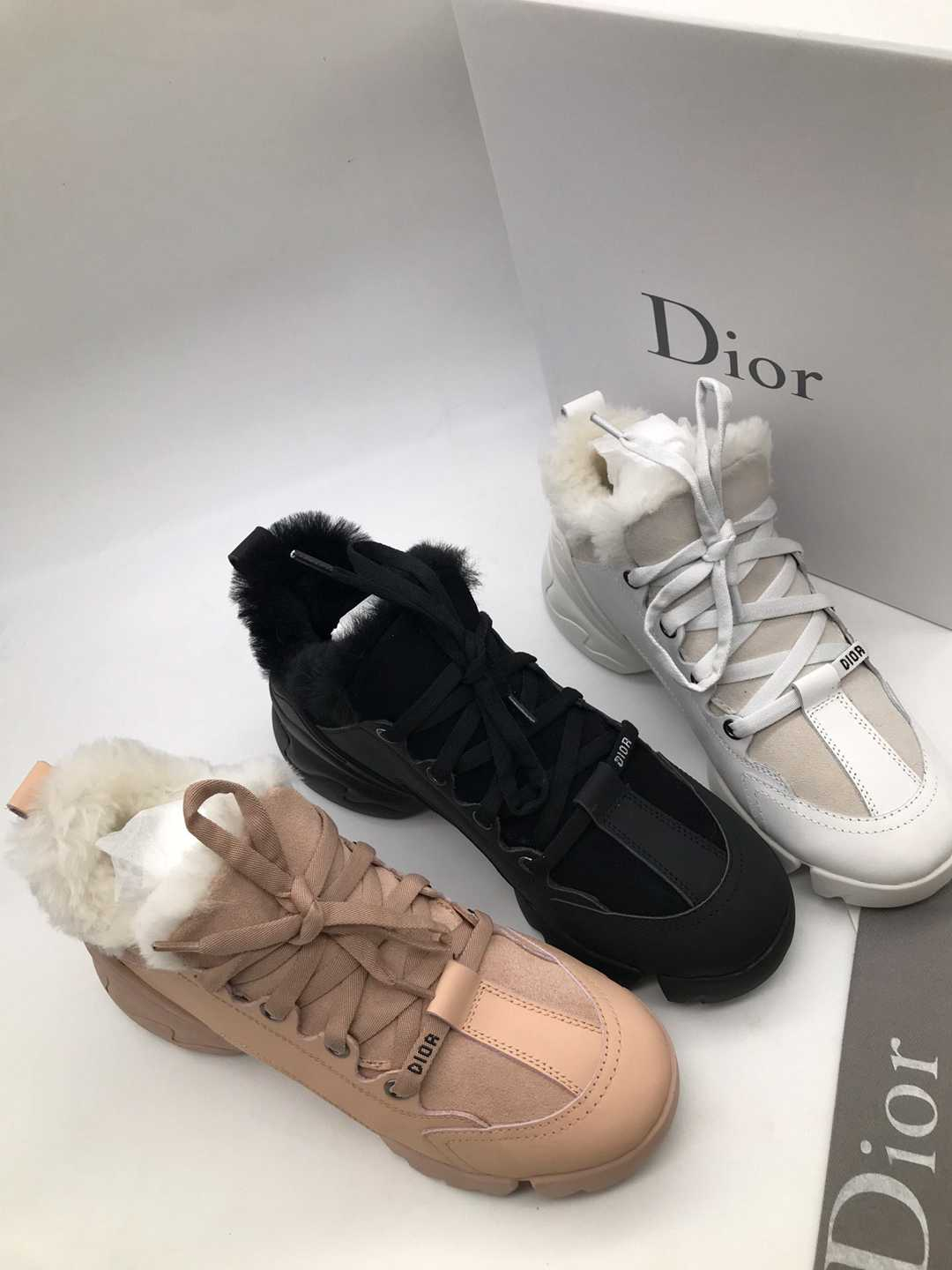 Image of Dior Low Fur Lined Boot