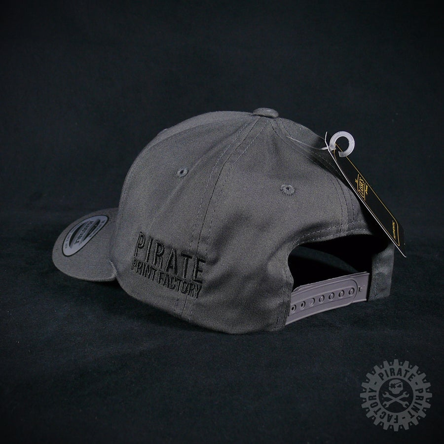 Image of ADJUSTABLE CAP PIRATE DARK GREY