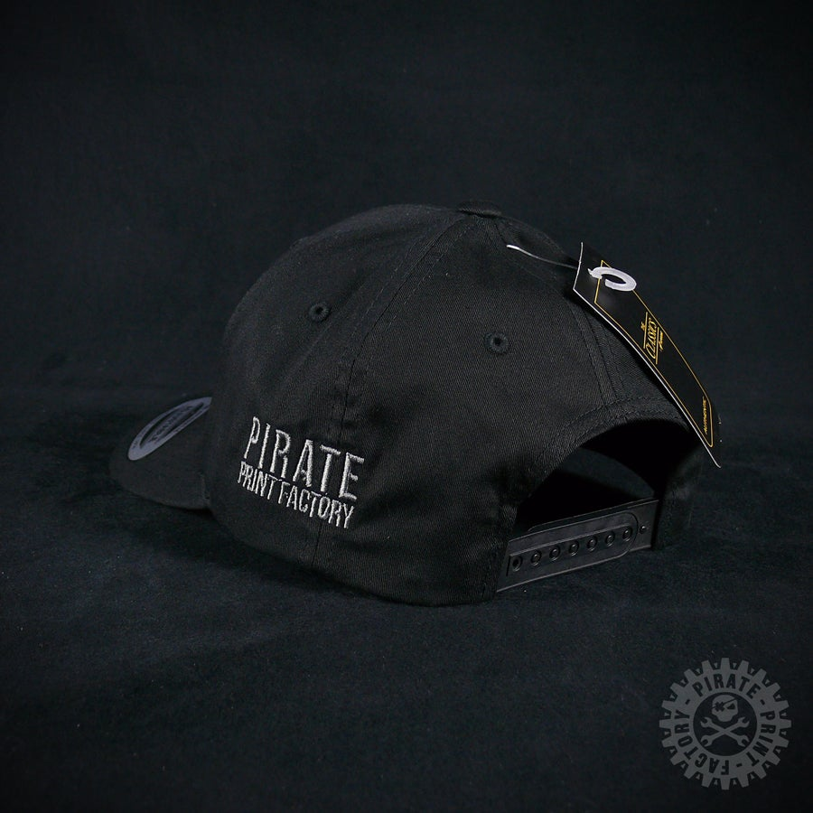 Image of ADJUSTABLE CAP PIRATE BLACK
