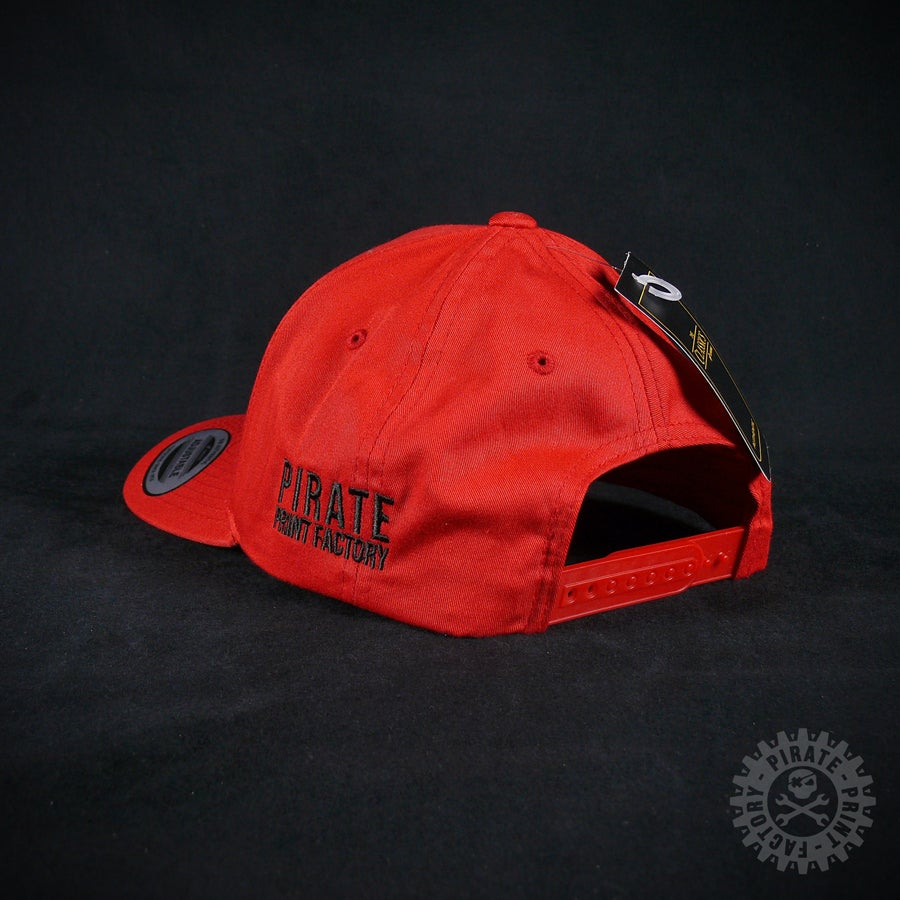 Image of ADJUSTABLE CAP PIRATE RED