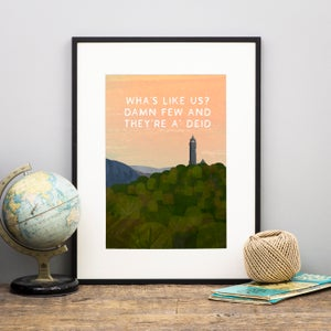Image of 'Wha's like us' Print