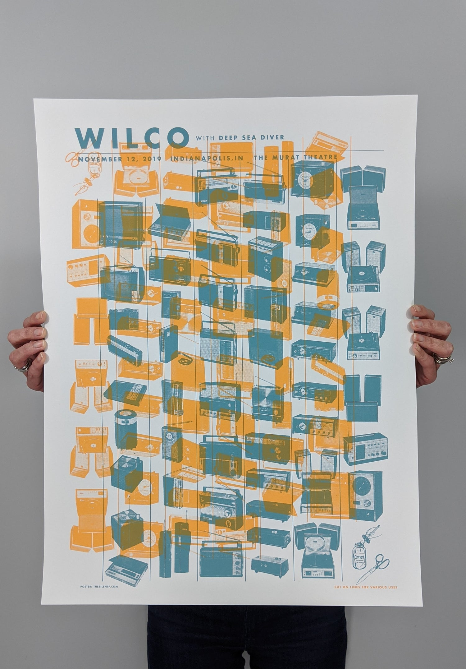 """Image of Wilco """"Radio Cure"""" Poster, Indianopolis, IN"""