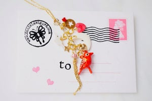 Image of Bird charm necklace