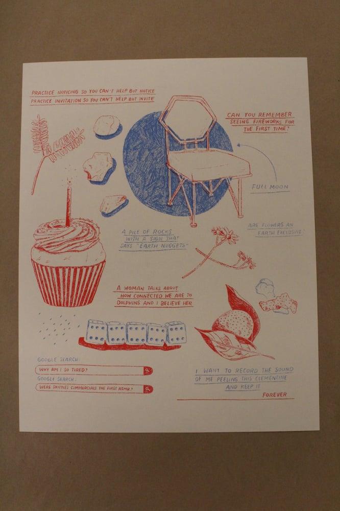 "Image of Jillian Barthold ""Cupcake"" Risograph Print"