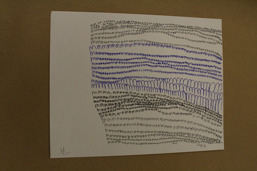 "Image of David Hunt ""m waterfall"" 3-layer Screen Print"