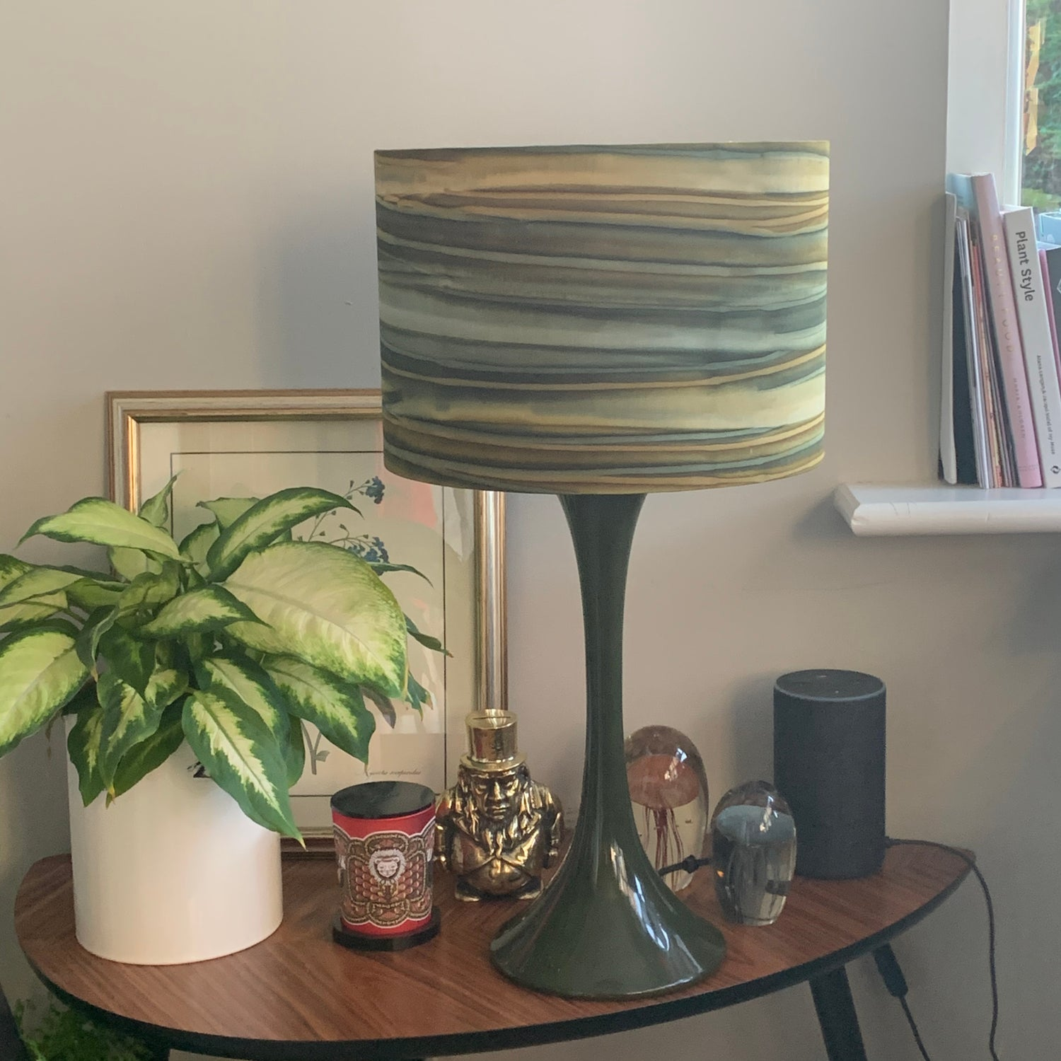 Image of Patina Handpaints Stripes Desert Green Shade 30cm