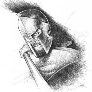 Image of Gerard Butler Doodle