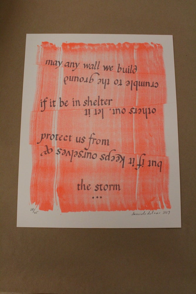 "Image of Daniela del Mar ""May Any Wall We Build"" Risograph Print"