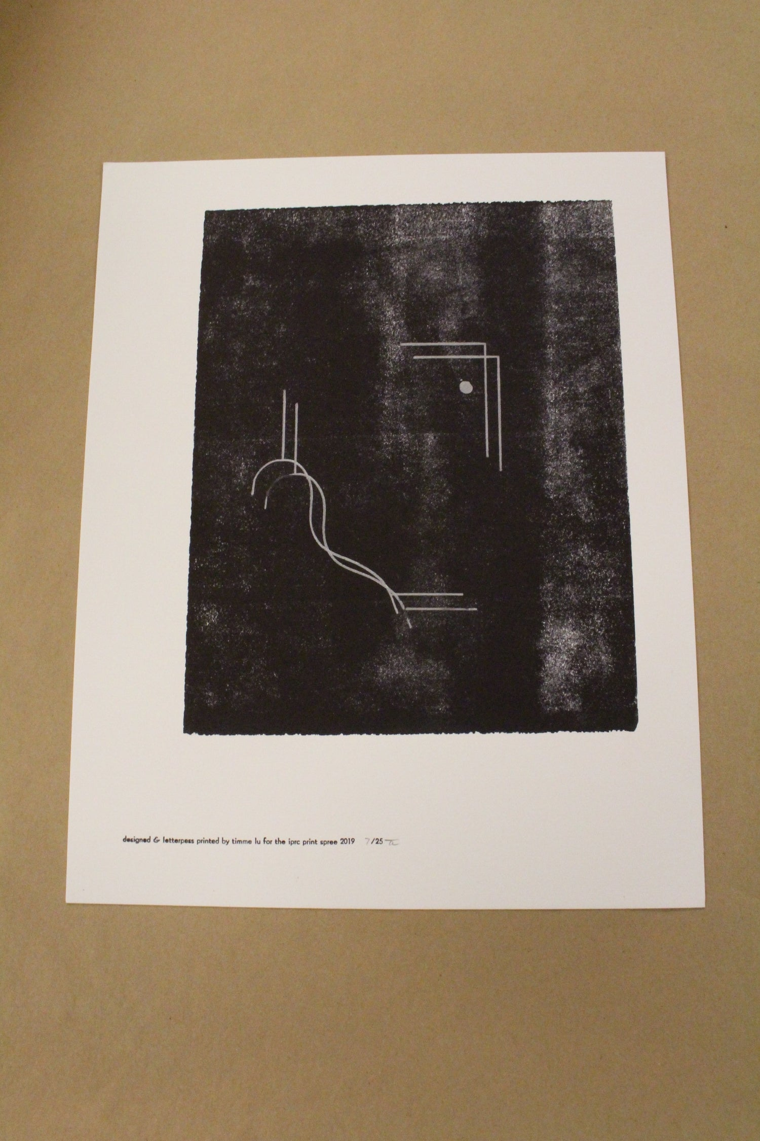 "Image of Timme Lu ""Foggy Geometric"" Letterpress Print"