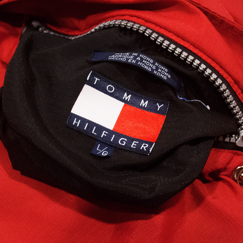 Image of Tommy Hilfiger Vintage Jacket Reversible Lined Fleece Size L