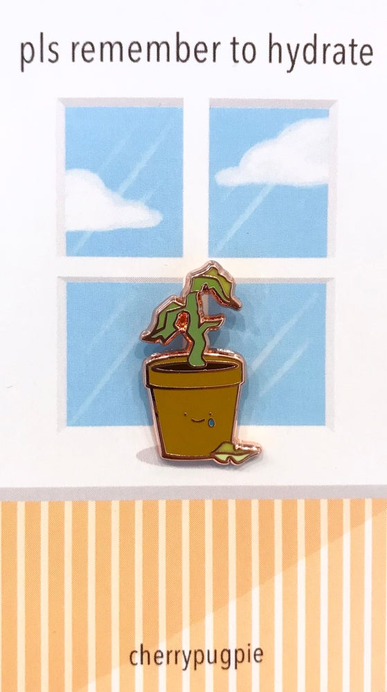 Image of Sad Plant Enamel Pin