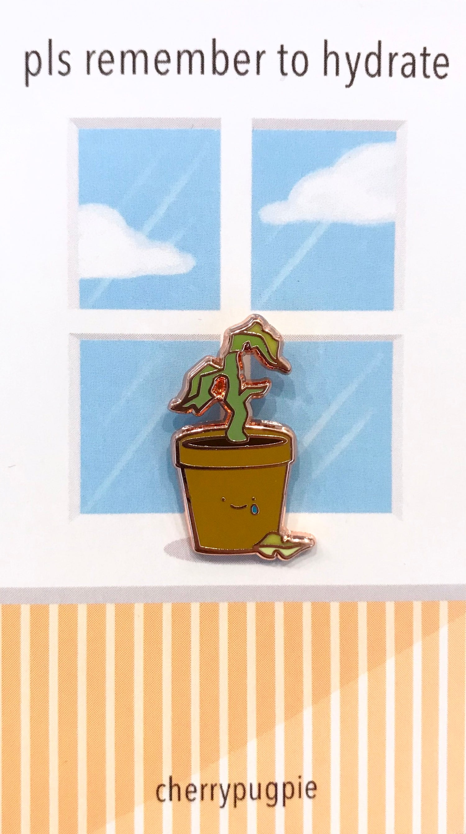 Image of Sad Plant Enamel Pin